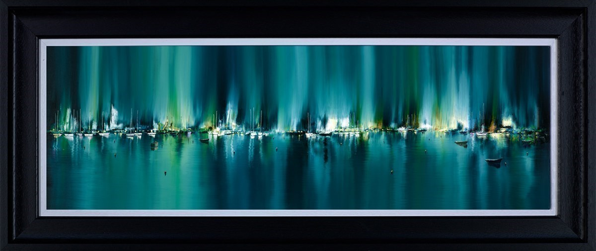 Radiant Harbour by Philip Gray - Hand Finished Limited Edition on Canvas sized 35x12 inches. Available from Whitewall Galleries